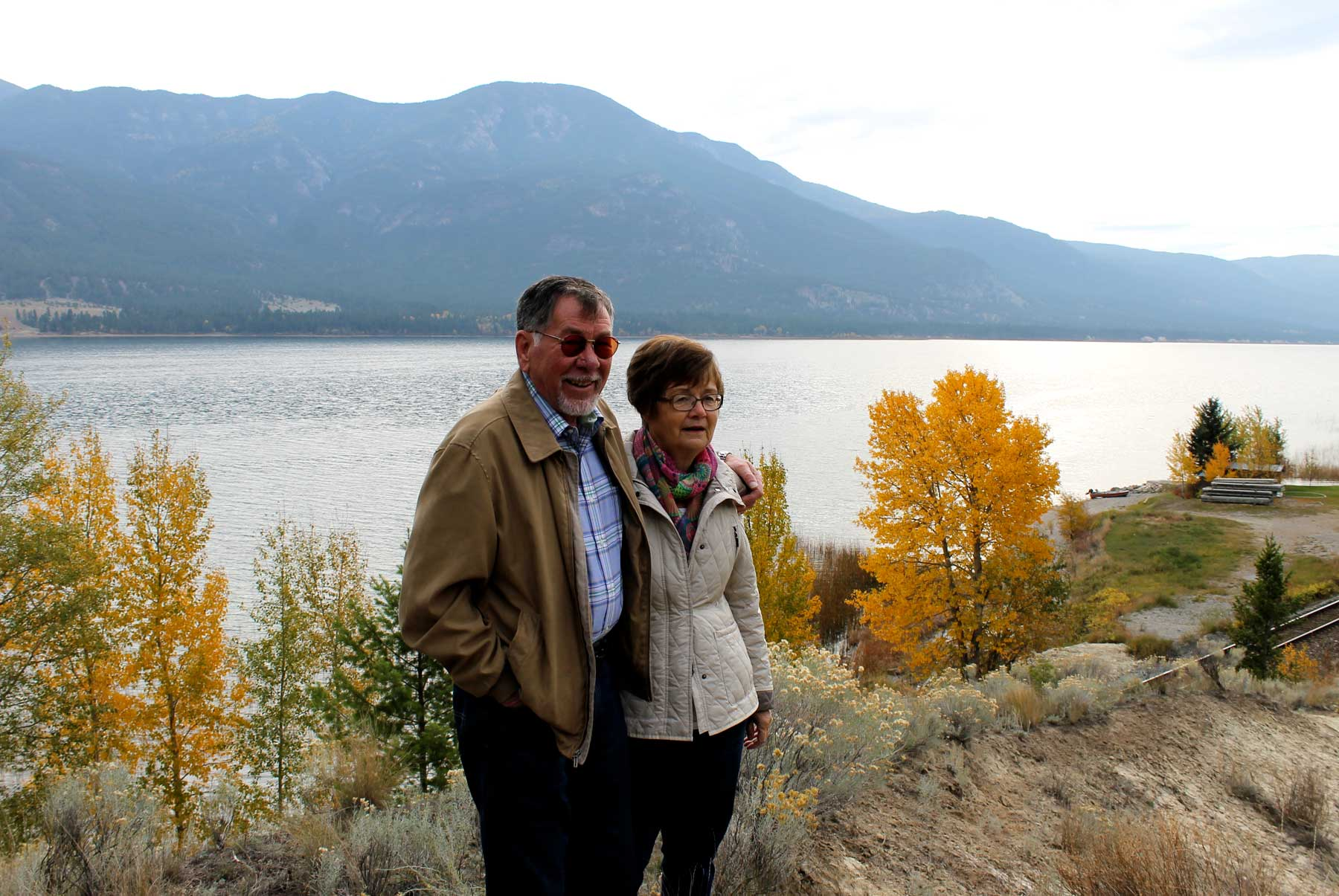 Rocky Mountain Lake views with Wolfgang and Margret